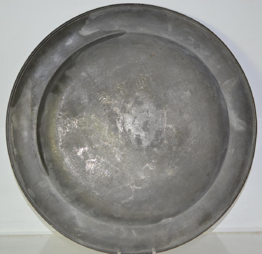 19th Century English Pewter Charger - 3