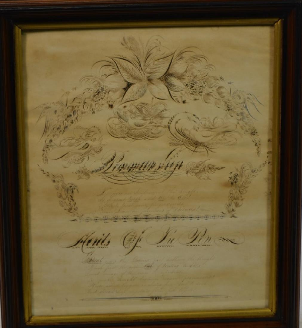 19th Century Pen and Ink Calligraphy