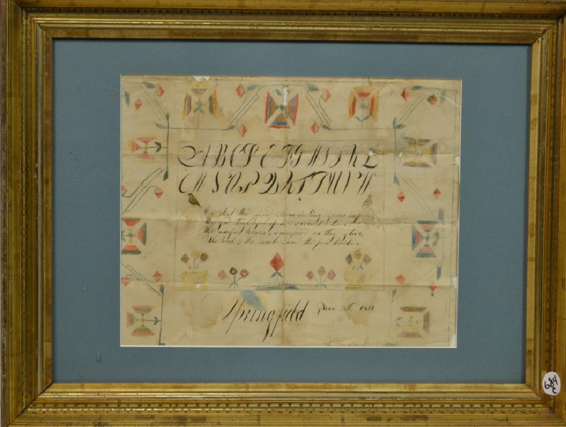 19th C American Pen and Ink Calligraphy, 1811