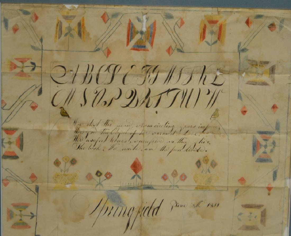 19th C American Pen and Ink Calligraphy, 1811 - 2
