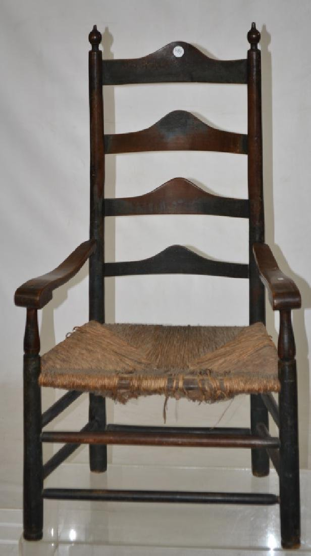 Early Ladder Back Chair with Paint History