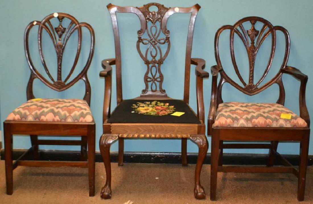 3 Vintage Mahagony Side Chairs