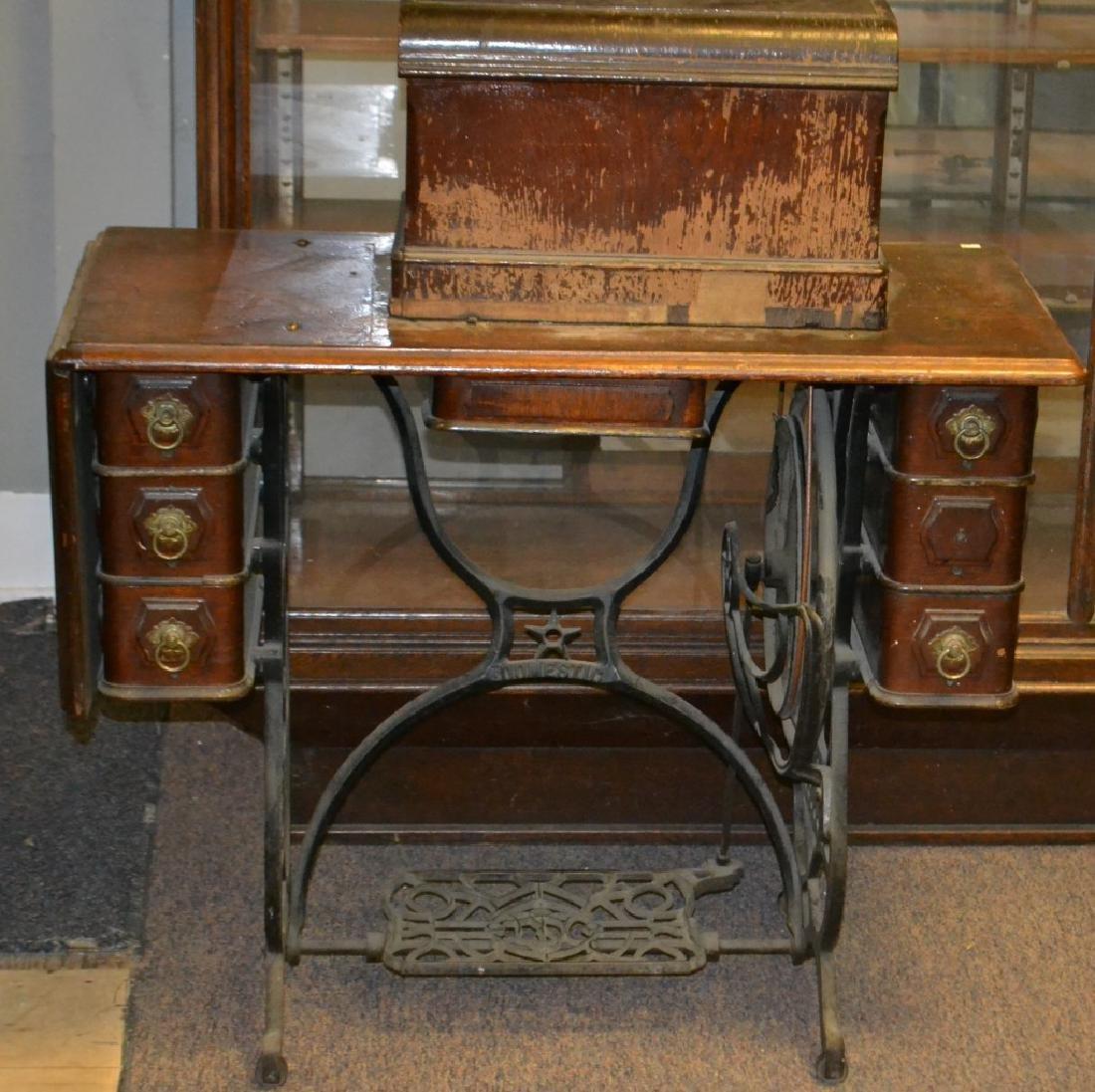 Oak Treadle Sewing Machine