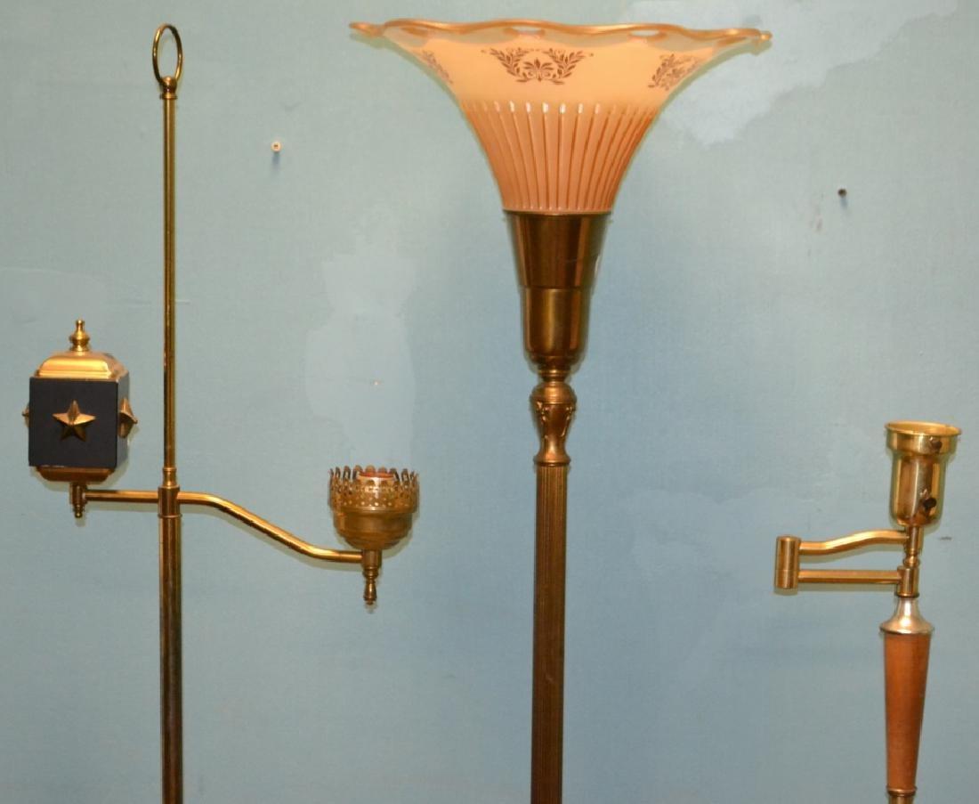 3 Mid Century Floor Lamps