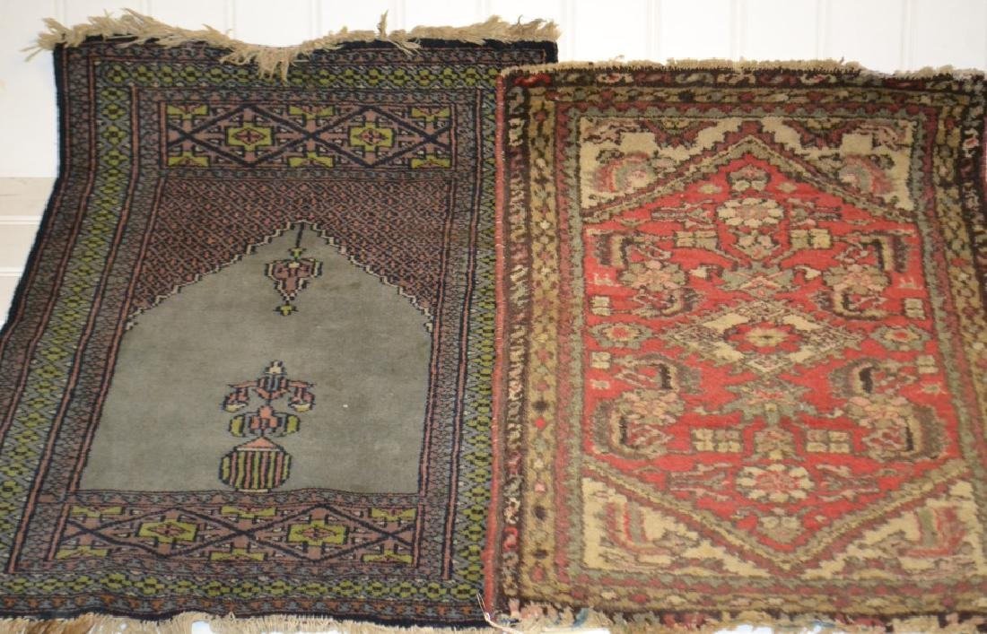 2 Handmade Oriental Throw Rugs