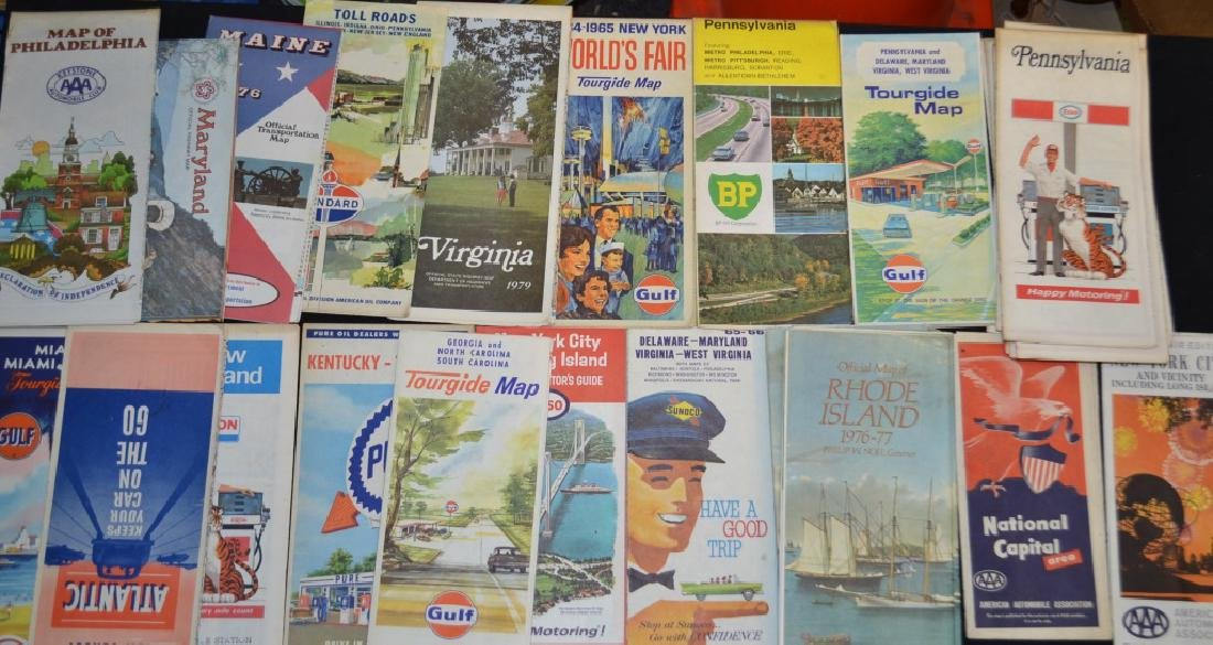 Group of Vintage Road Maps