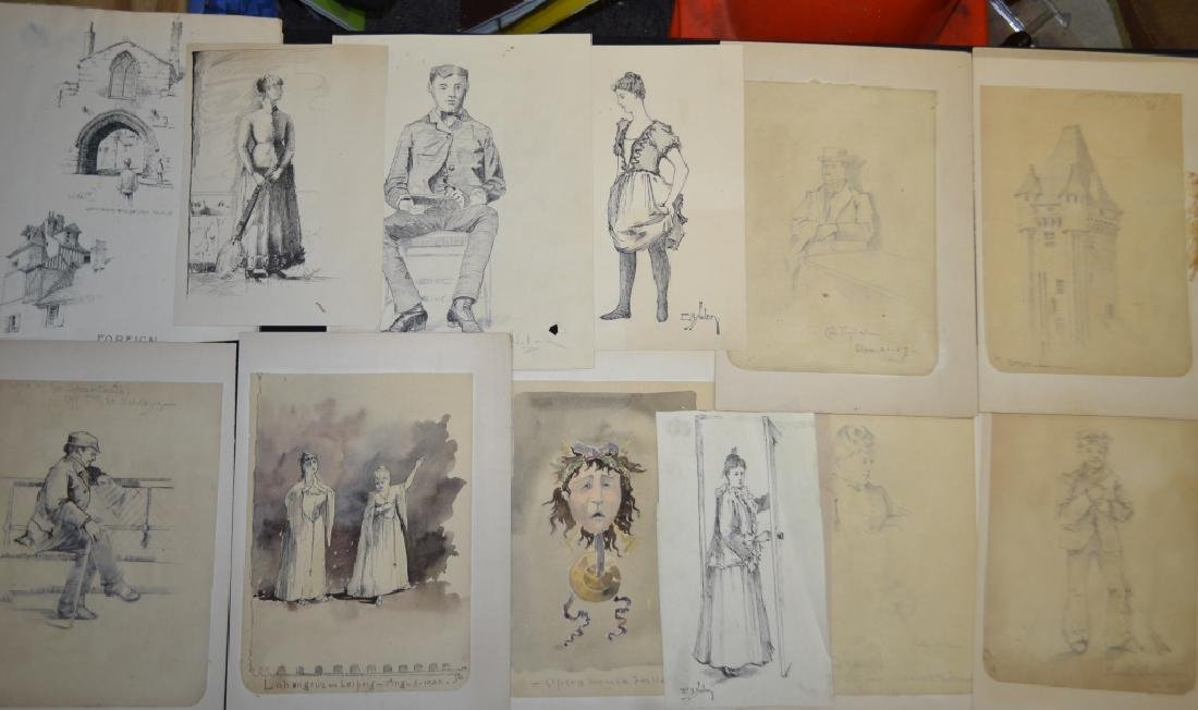 Grouping of E. B. Nolan Pen & Ink Drawings