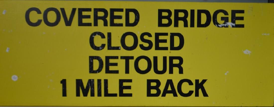 Covered Bridge Detour Sign