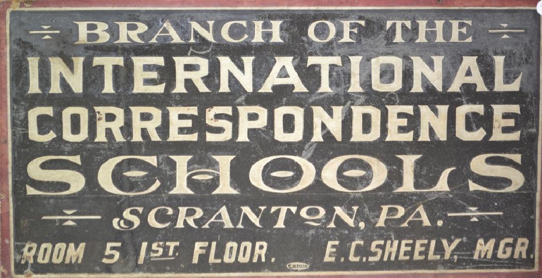 Vintage Correspondence School Sign