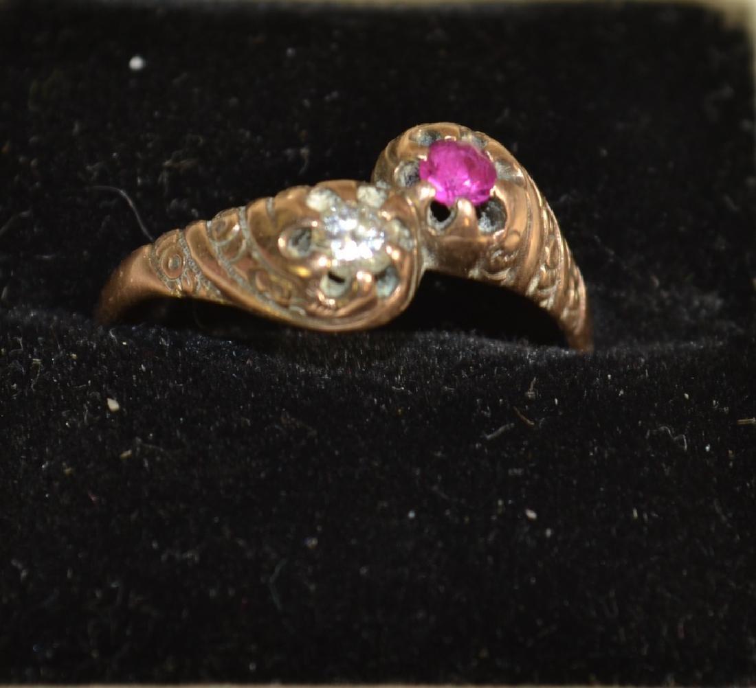 Ladies 14K Gold and Diamond Ring