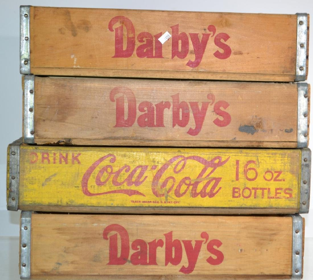 Four Vintage Soda Crates