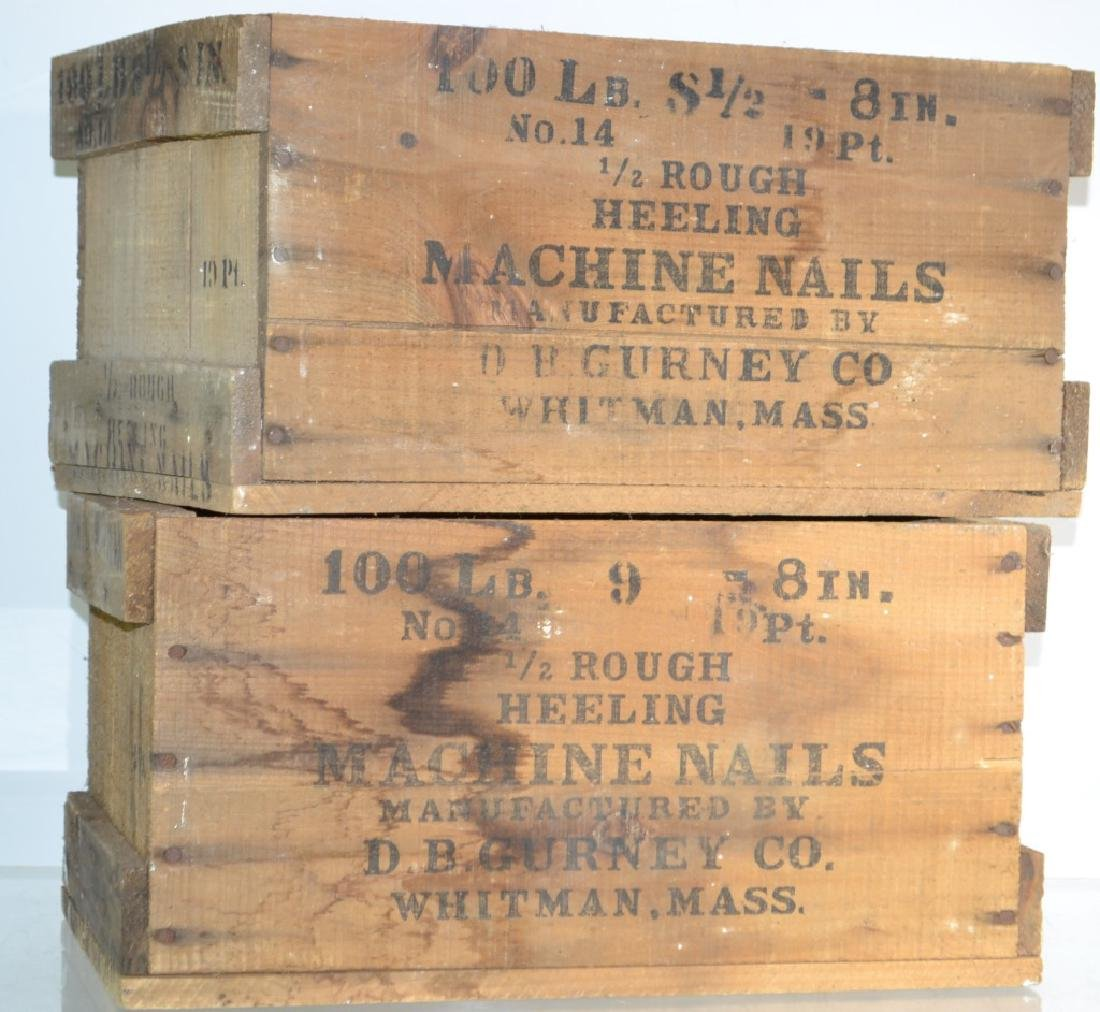 Two Vintage Nail Crates