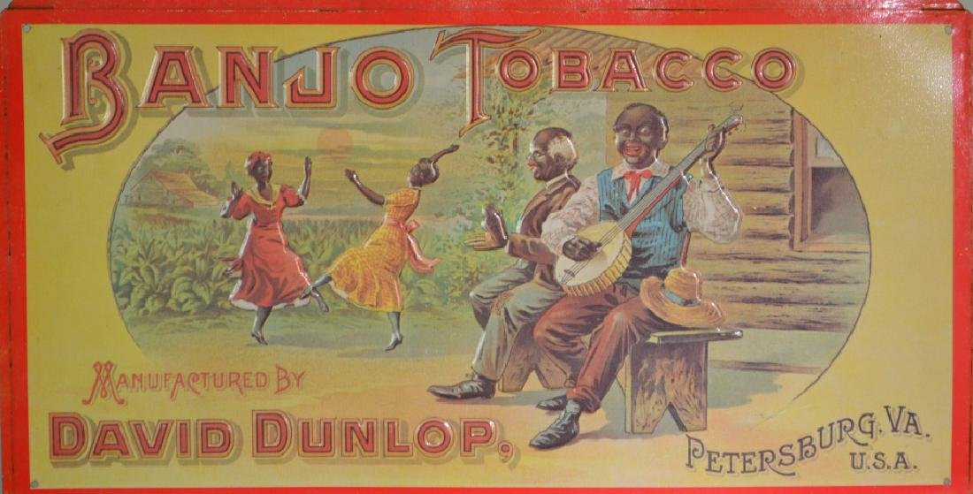 Banjo Tobacco Tin Sign