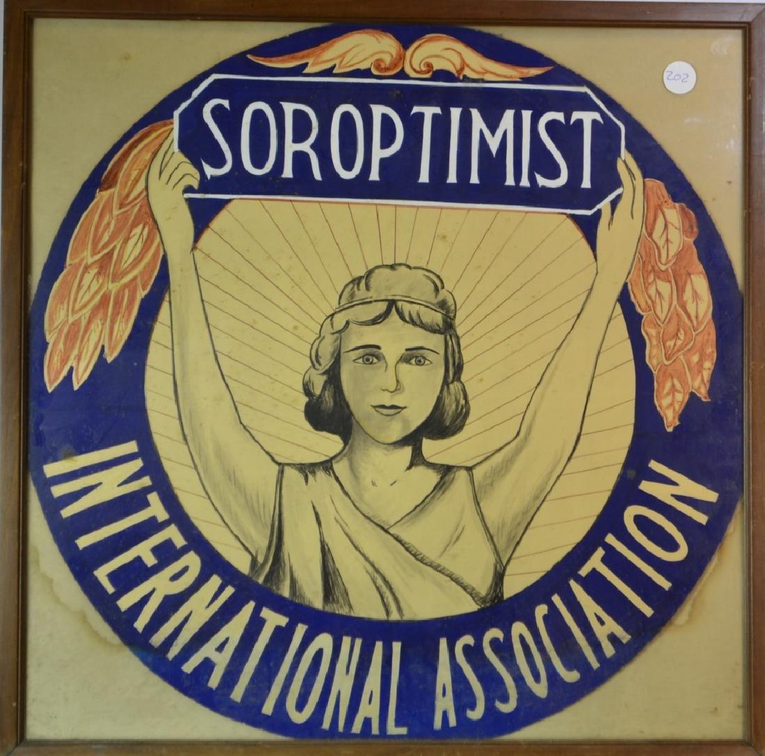 """""""Soroptimist"""" Framed Poster"""