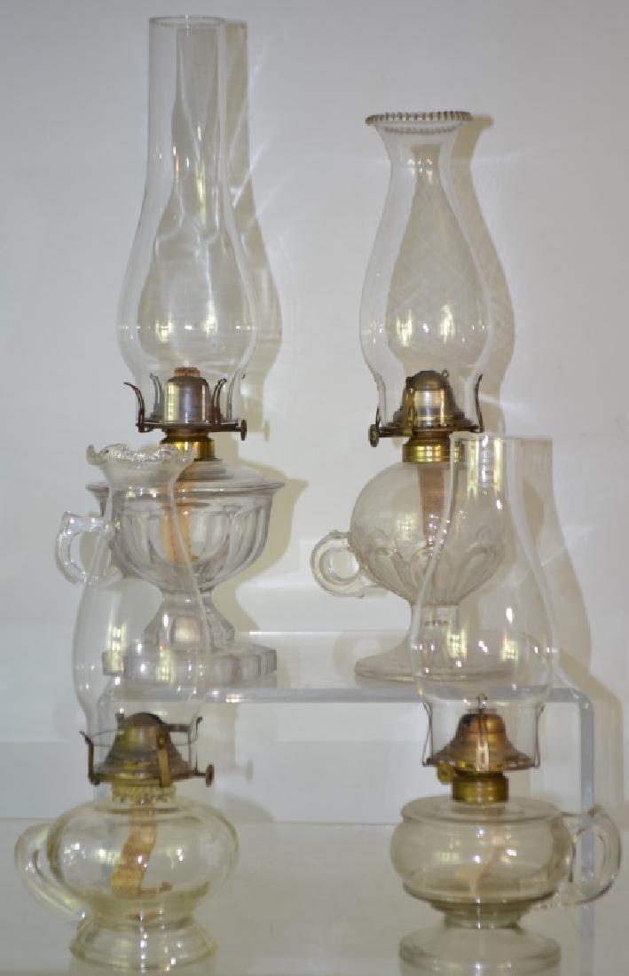 19th Century Finger Lamp Grouping
