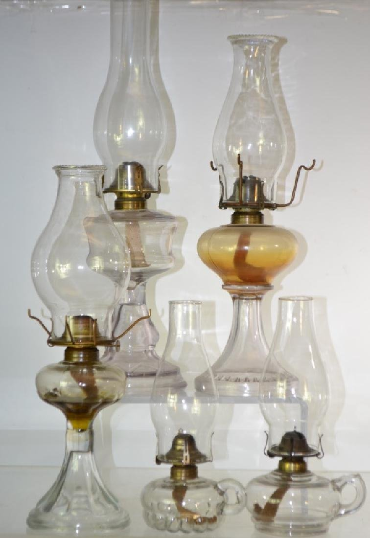 19th Century Oil Lamp Grouping