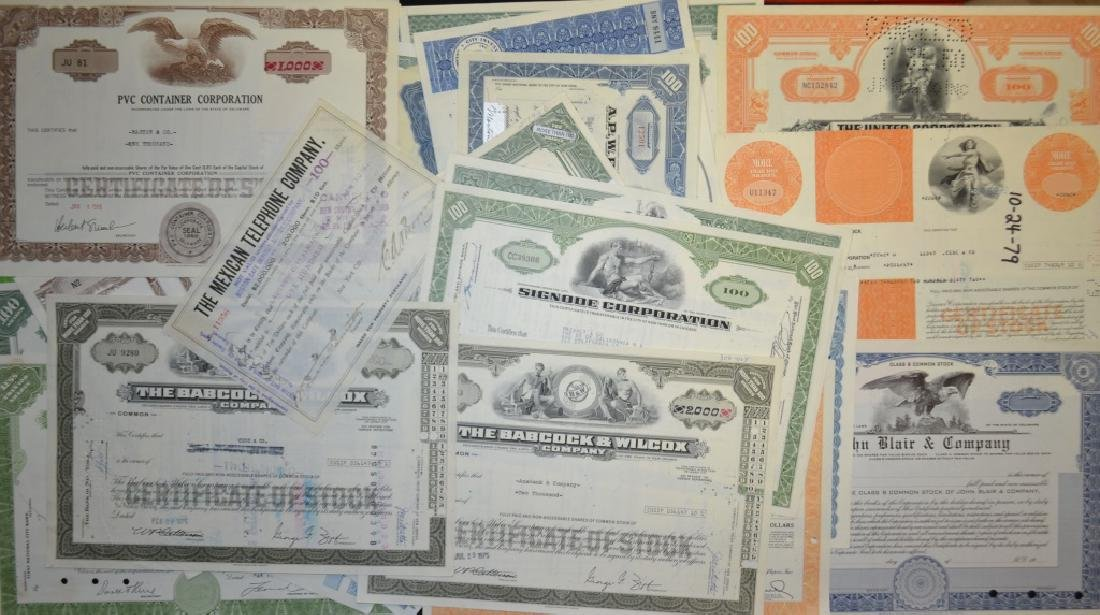 Stock Certificate Grouping