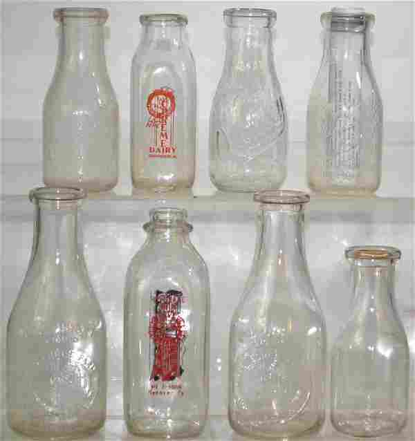 Vintage Milk Bottle Collection