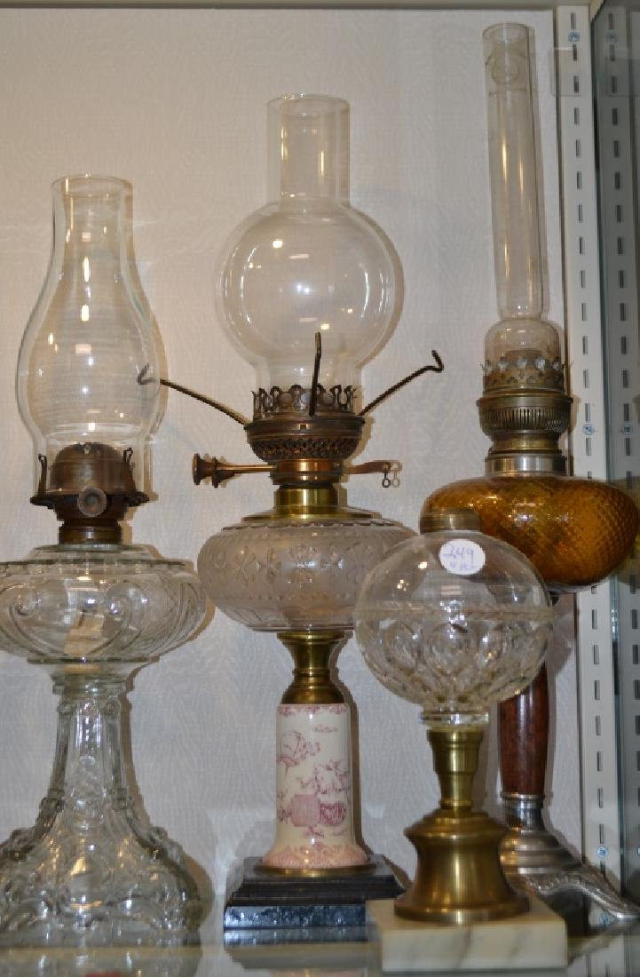 Victorian Oil Lamp Grouping