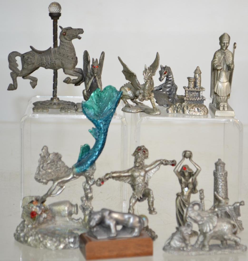 Collection of Pewter Fantasy and Other Figures