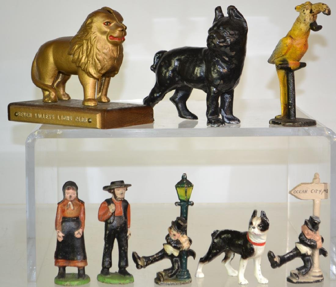 Antique Style Cast Iron Figures and Banks