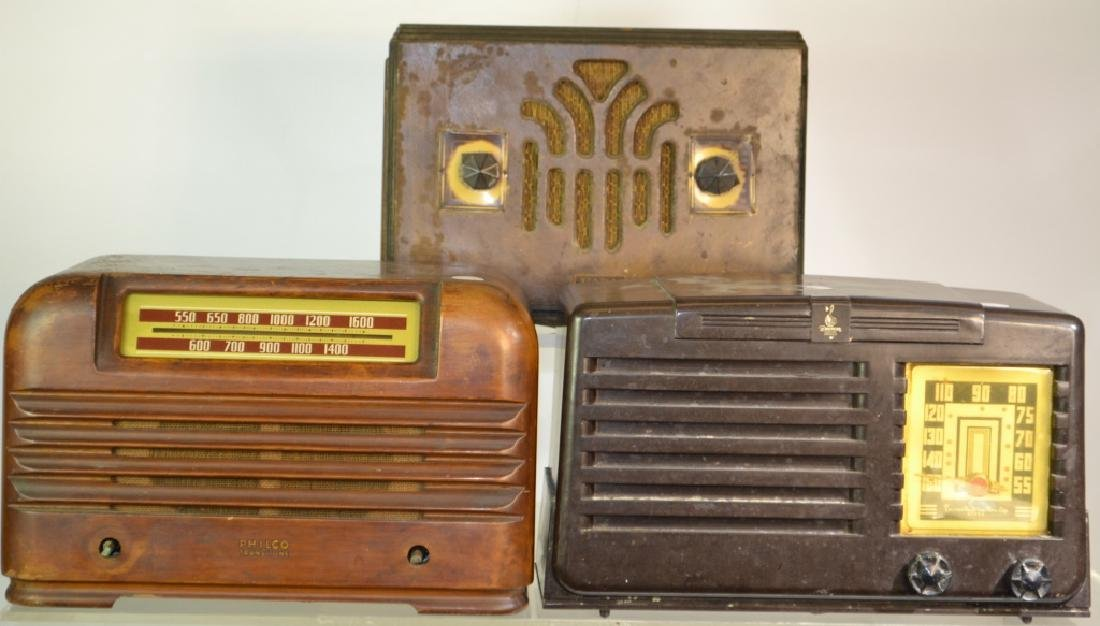 Fada Radio, a Philco & an Emerson Radio