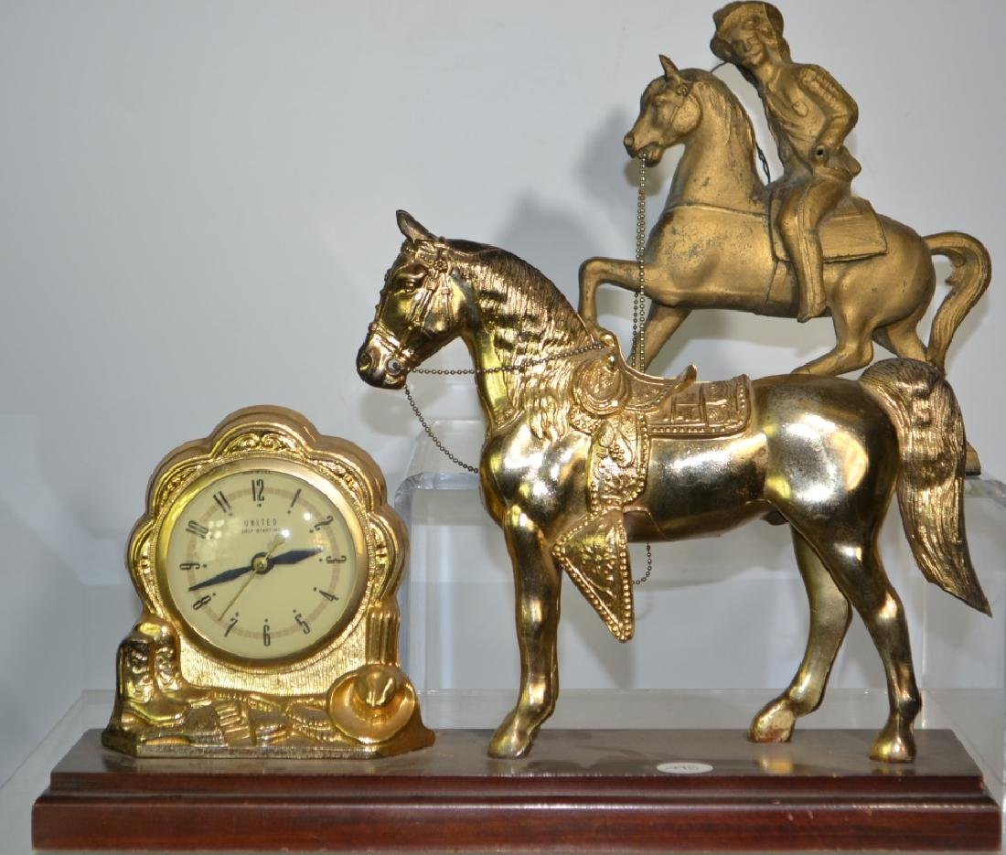 Vintage Horse Clock and Topper