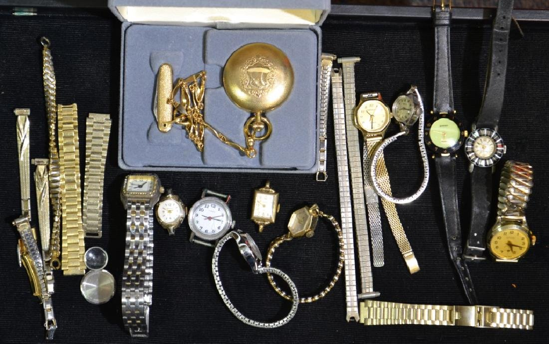 Ladies Wrist and Pocket Watch Grouping