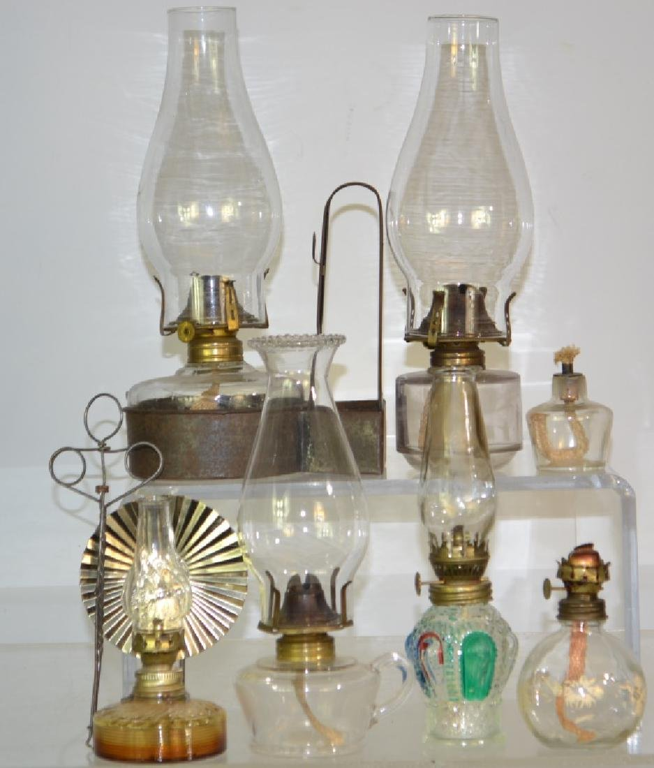 Miniature Oil Lamp Grouping