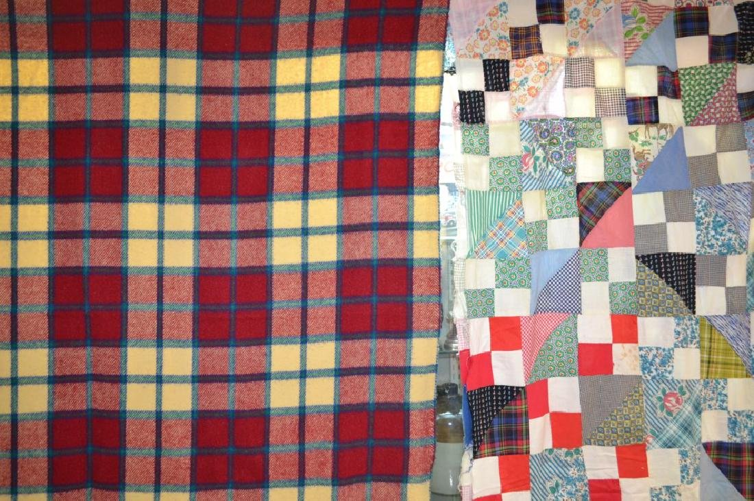 Vintage Quilt Top and Camp Blanket