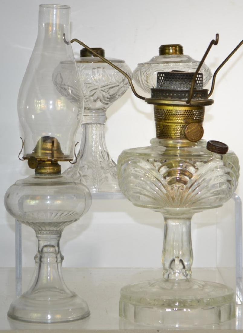 Four Victorian Oil Lamps