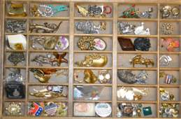 Costume Jewelry Brooch and Pin Collection