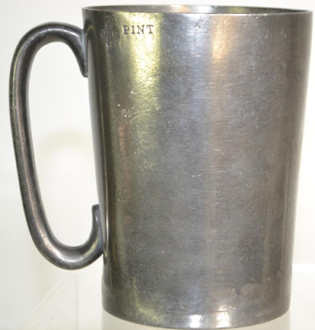 19th Century English Pewter Pub Pot