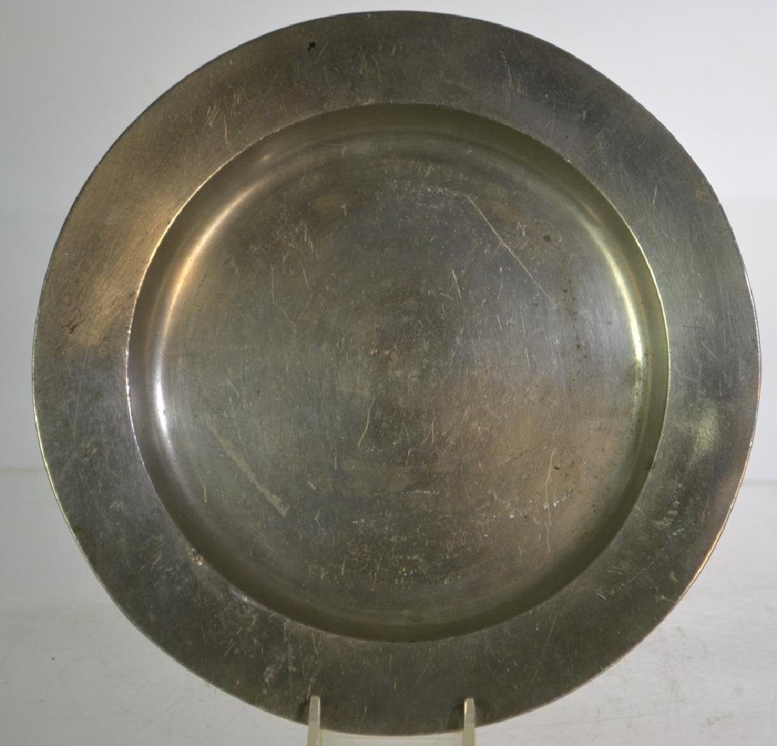 18th/19th Century German Pewter Plain-Rim Plate