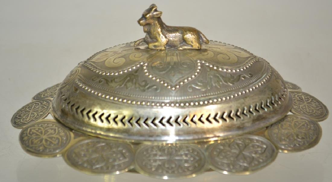 19th Century English Silver-Plated Butter Dish