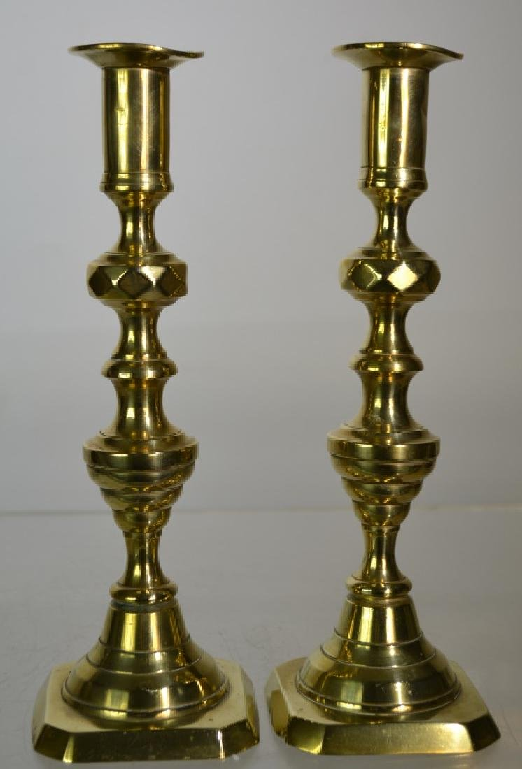 Pair of 19th Century English Candlesticks