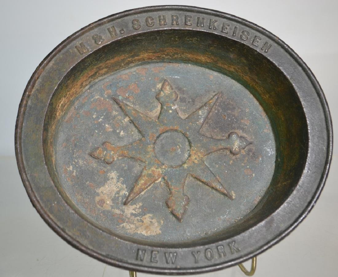 19th Century Iron Pot with Advertising