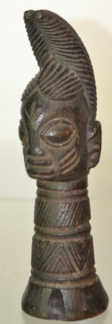 "Carved Wood African Figure, H: 10""."