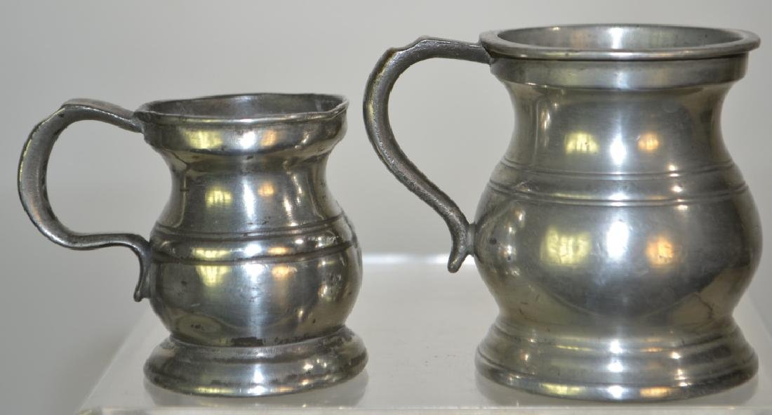 Two 19th century English Pewter Measures