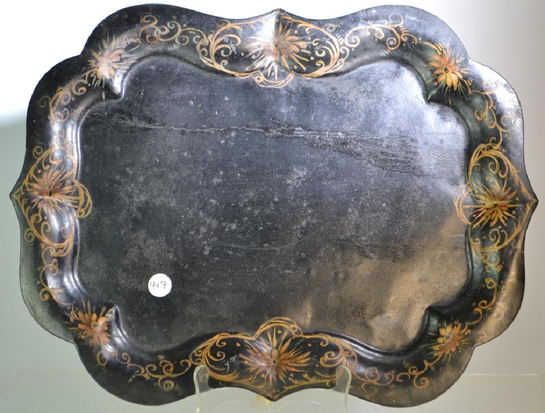Large 19th Century American Toleware Tray