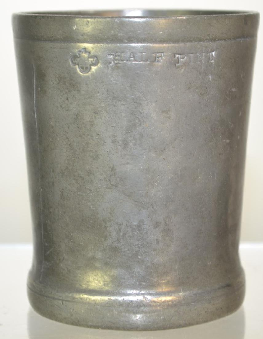 William IV Period English Pewter Beaker