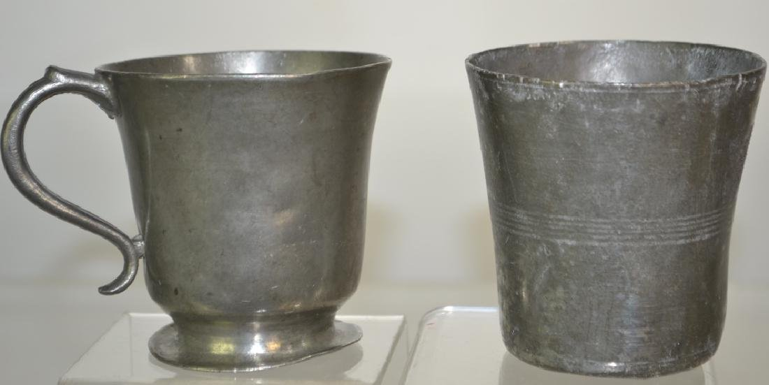 Two American Pewter Items