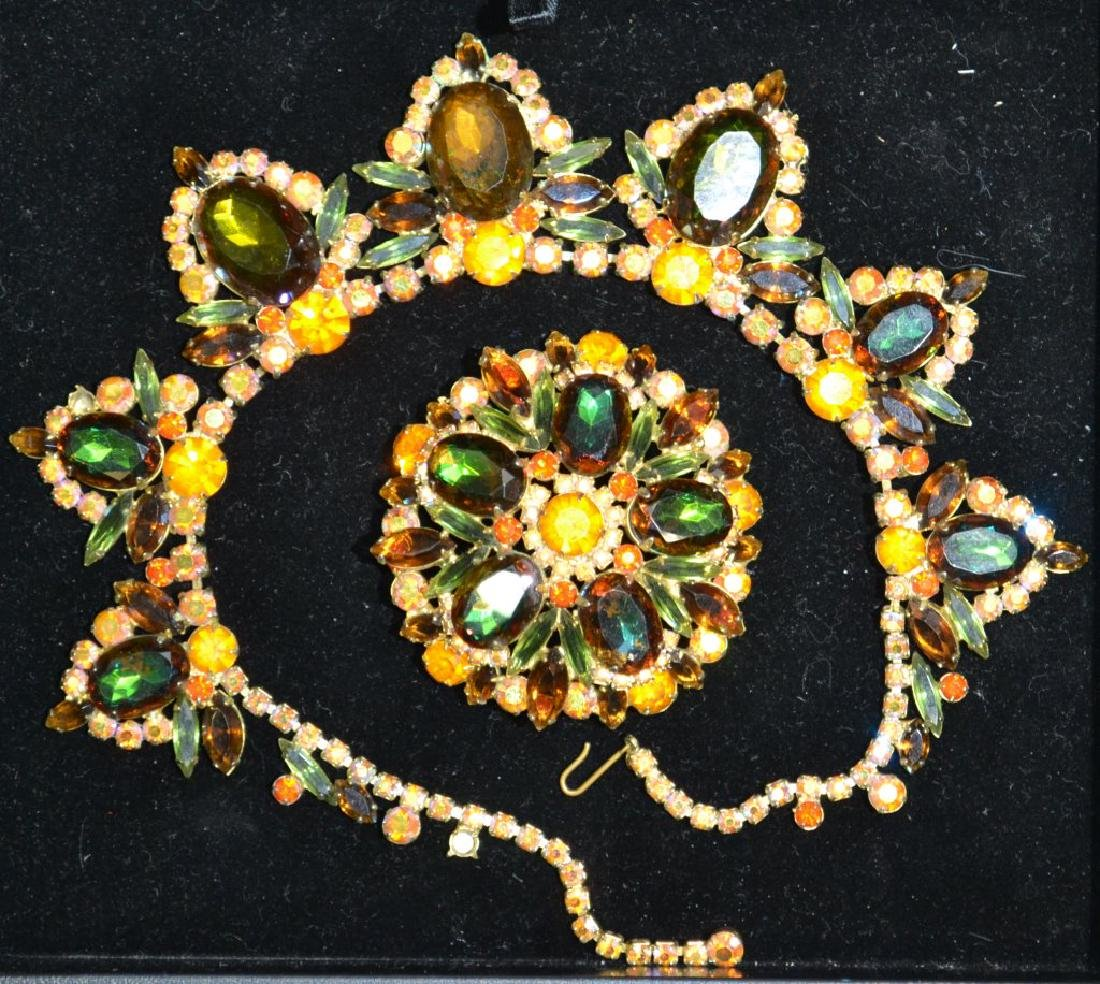 Costume Jewelry Necklace & Brooch