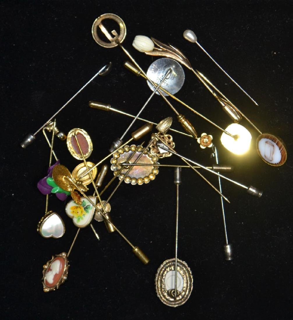 22 Vintage Costume Jewelry Hat Pins