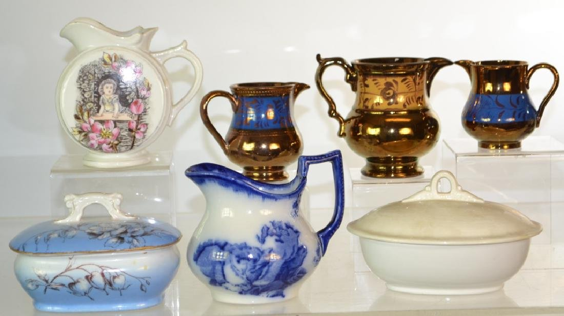 19th Century Creamers and Butter Dishes