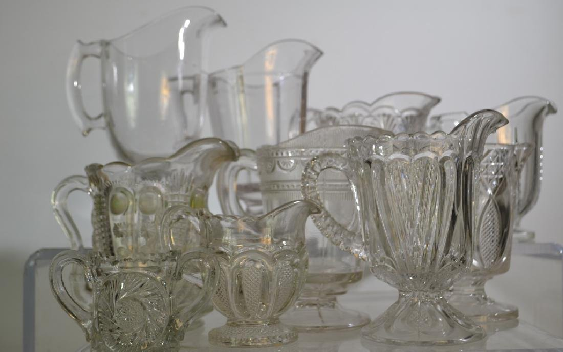 Ten Victorian Cream Pitchers