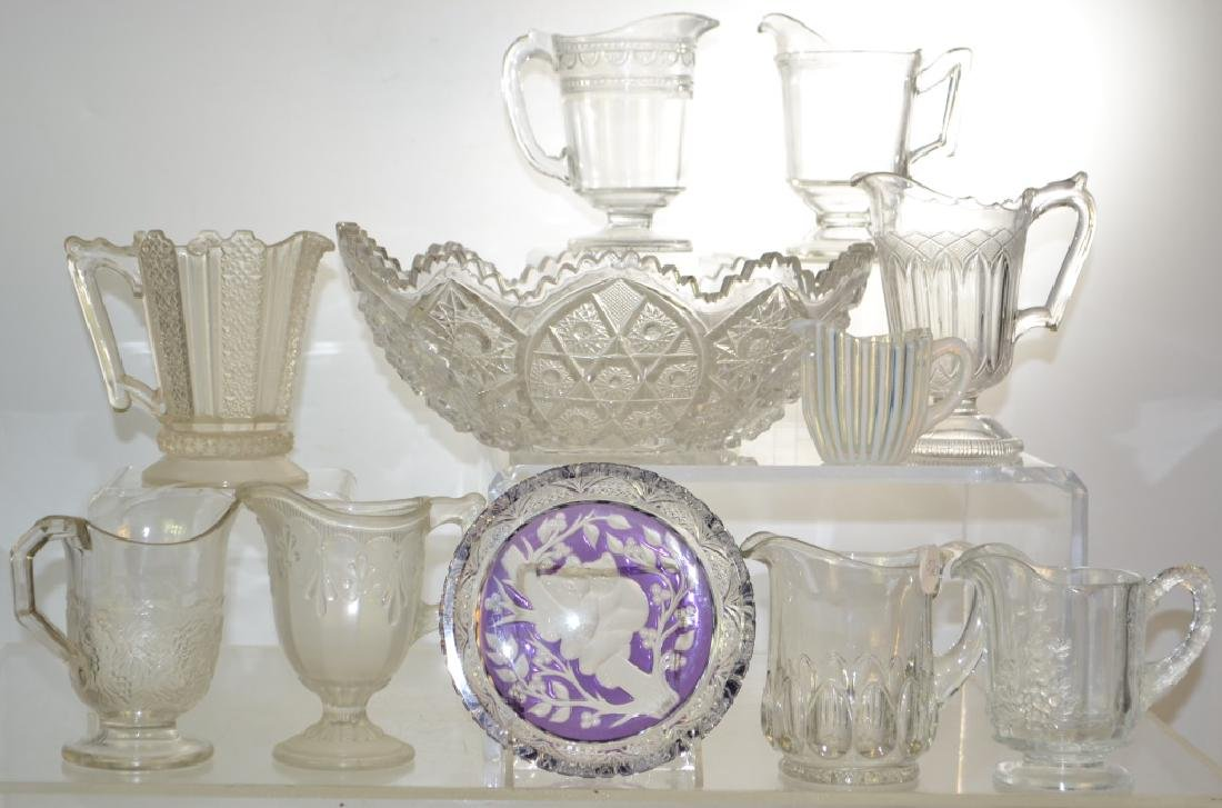 Victorian Cream Pitcher Grouping and Fruit Bowl
