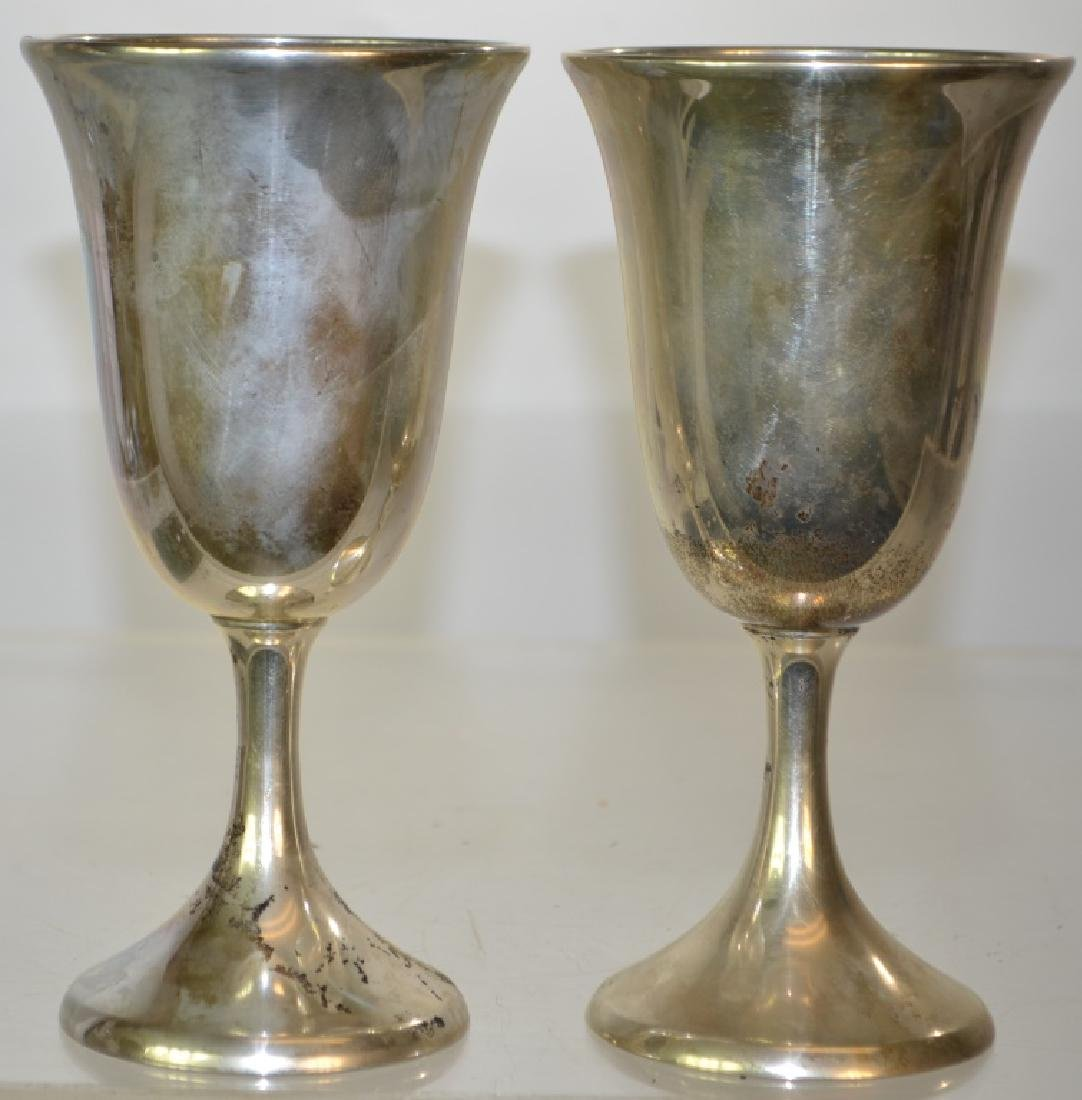 Pair of Sterling Goblets
