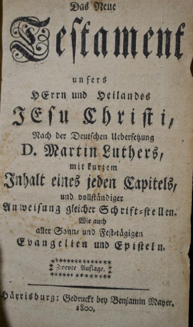 German Bible Dated 1800