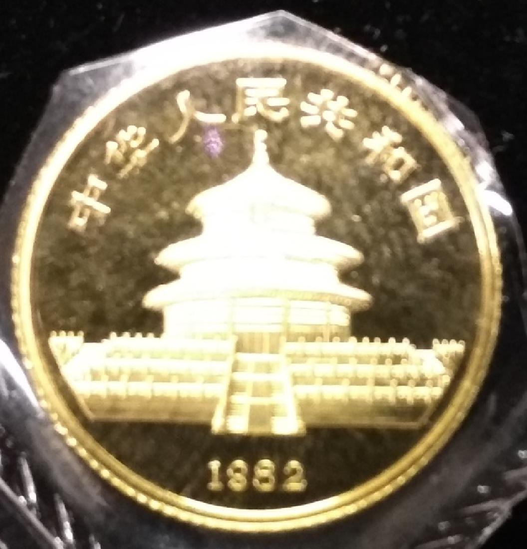 1982 Chinese Gold Panda Coin